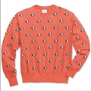 Orange champion sweatshirt